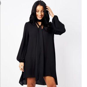 EUC Black choker dress sz L